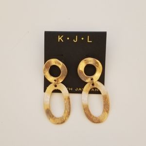 Brand new Kenneth Jay Lane Hoop earrings
